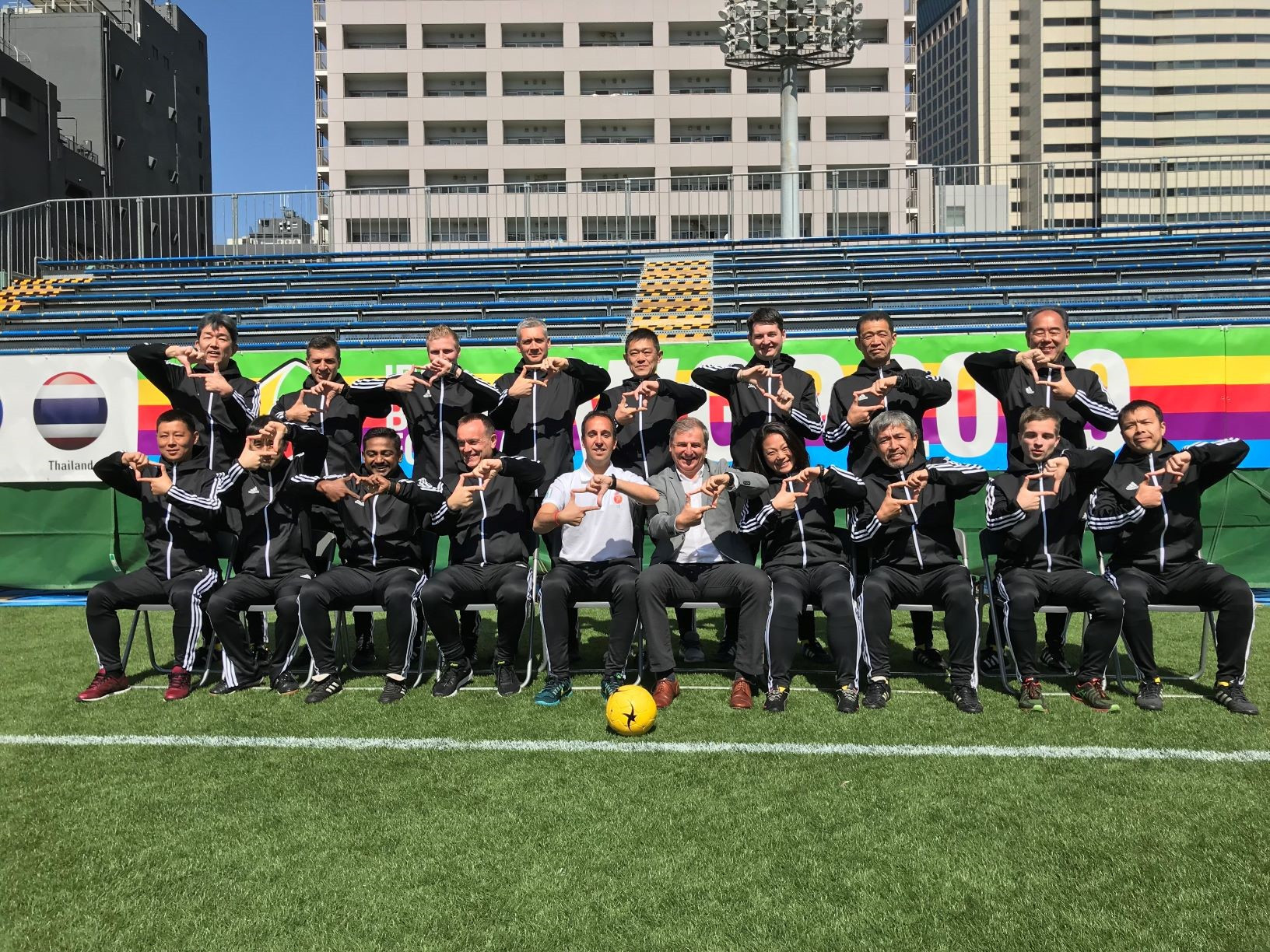 Referees also got involved with the Play True 2020 activities in Tokyo ©IBSA