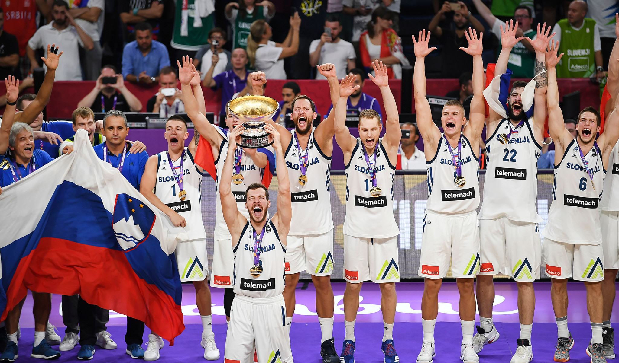 Winners of FIBA EuroBasker 2017, Slovenia, have applied to host the 2021 edition ©Getty Images