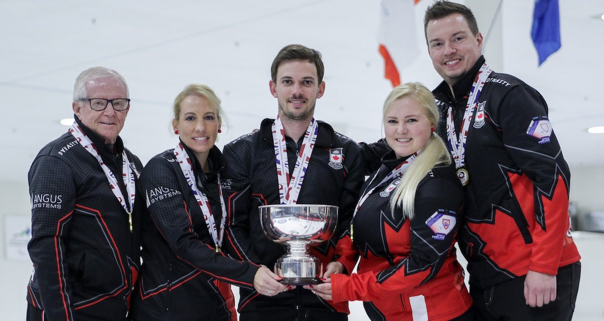 Hosts Canada triumphed at the 2018 World Mixed Curling Championship ©Getty Images