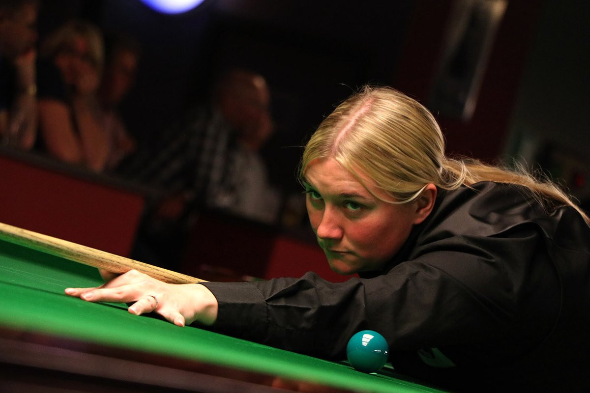 Britain's Rebecca Kenna quit her local snooker league after being banned from matches for being a woman ©WWS