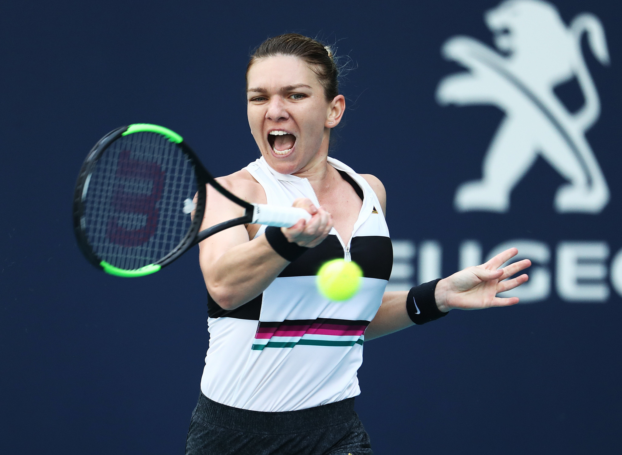Simona Halep is one win away from reclaiming the world number one ranking ©Getty Images