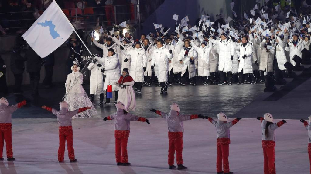 North and South Korea marched together in the Opening Ceremony at Pyeongchang 2018 ©Getty Images