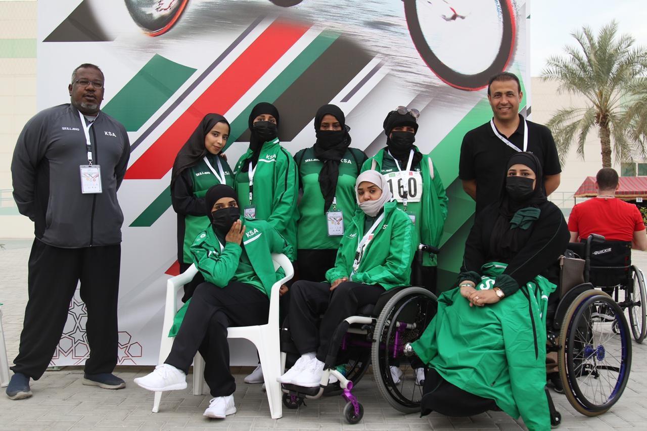 There were three female athletes in Saudi Arabia's team for the 2019 World Para Athletics Grand Prix in Dubai ©NPC Saudi Arabia