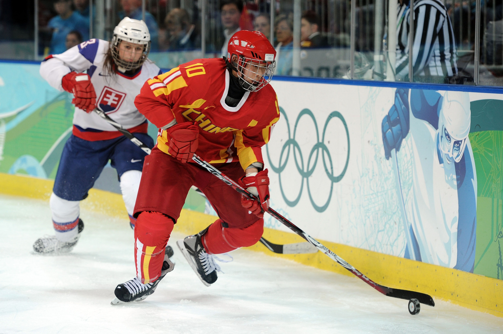 China have been represented in the women's ice hockey tournament at three Winter Olympic Games, including Vancouver 2010, where they finished seventh overall ©Getty Images