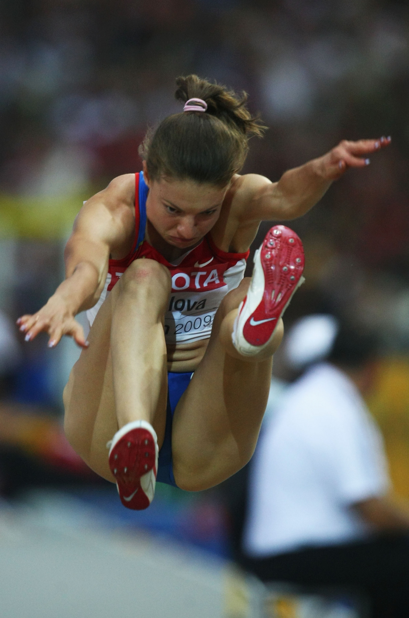 Olympic long jump silver medallist Yelena Sokolova was last month among 21 Russians given permission to compete as neutrals in 2019 ©Getty Images