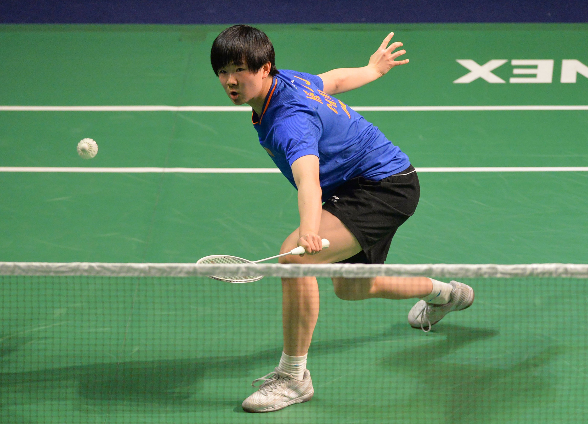 China's He Bingjiao is through to the last eight of the women's singles ©Getty Images