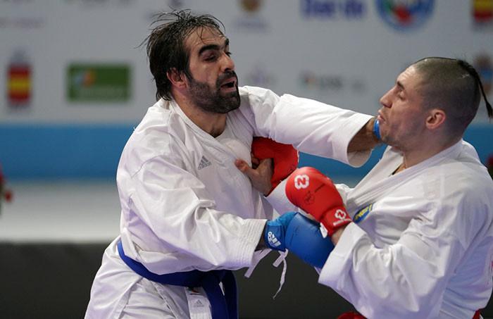 Azerbaijan's Rafael Aghayev is through to the men's kumite under-75 kilograms final ©WKF