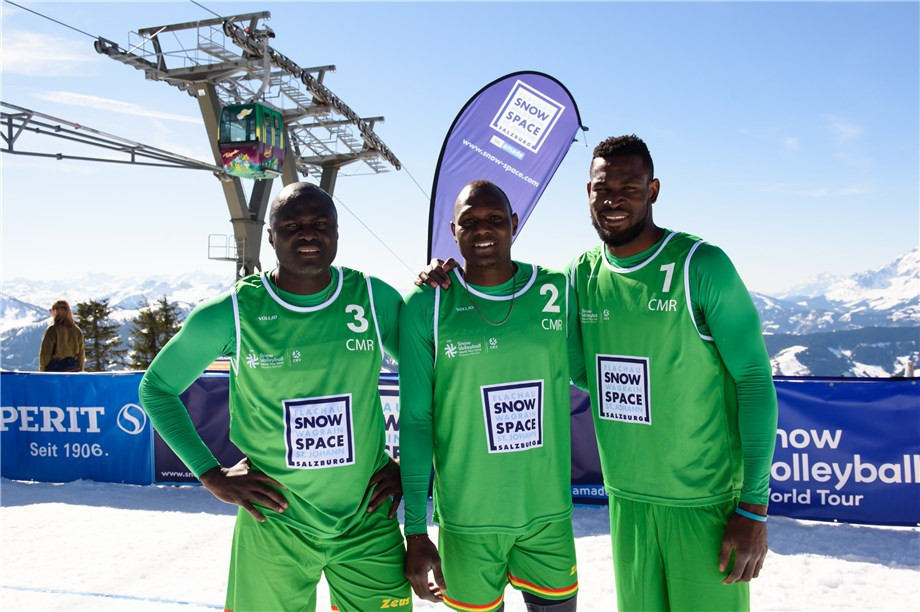 Team from Cameroon features on day of pool action at first FIVB Snow Volleyball World Cup event