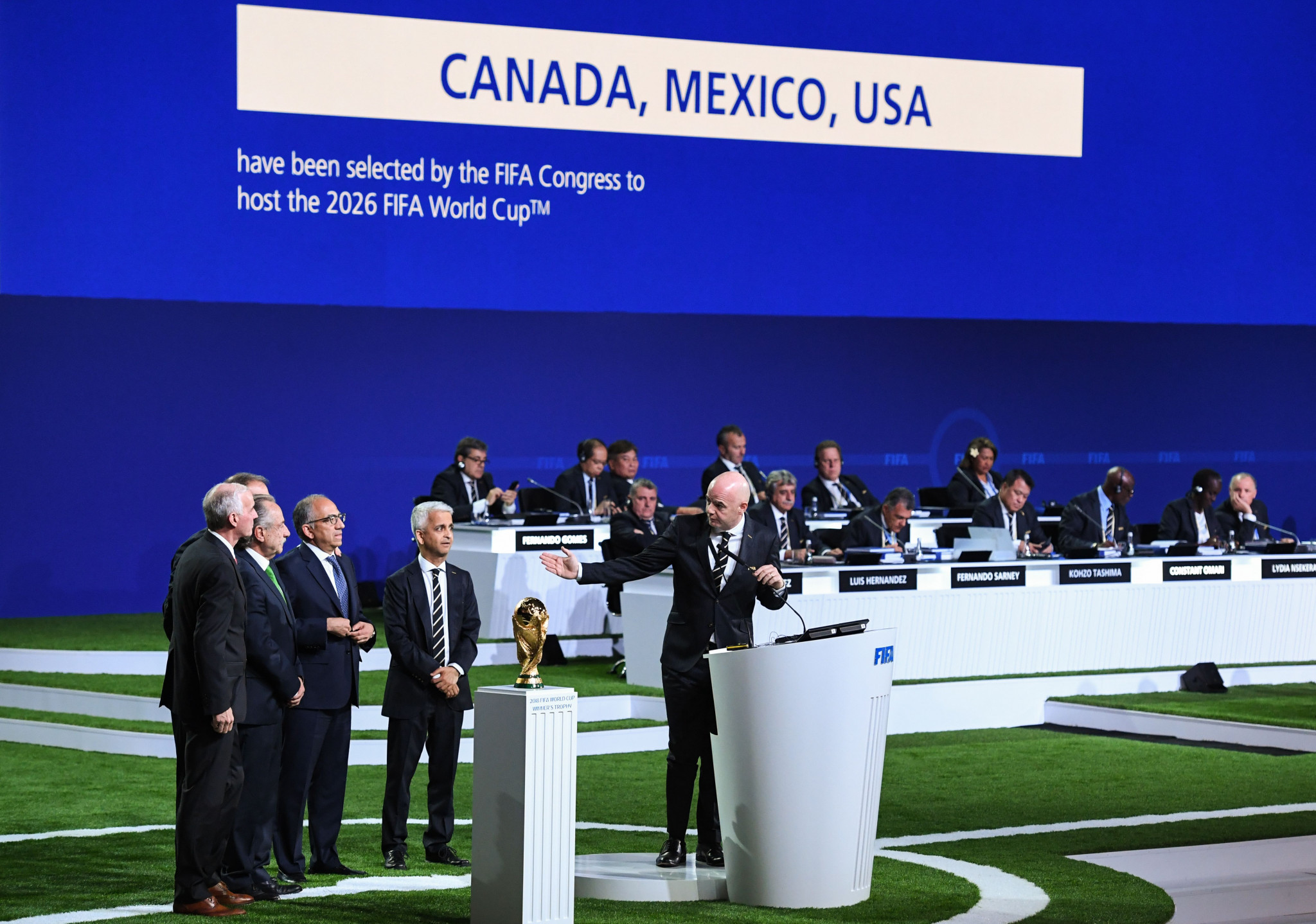 Victor Montagliani was involved in the successful North American bid for the 2026 FIFA World Cup ©Getty Images