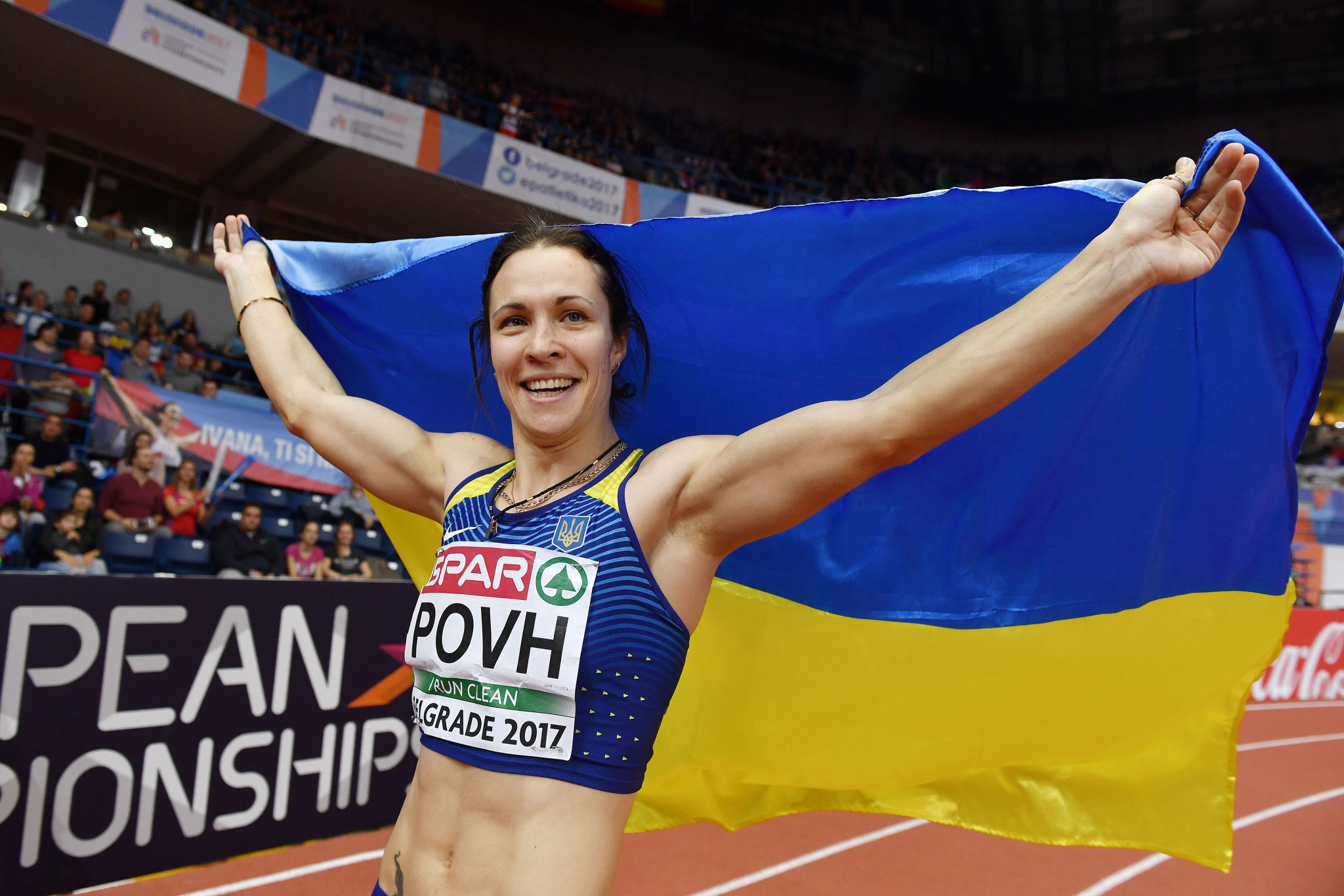 Olesya Povh will lose a European indoor silver medal ©Getty Images