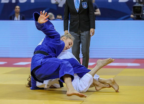 France's Melanie Clement produced the performance of her life to beat Ukraine's Daria Bilodid to the women's under-48 kilograms gold medal on the opening day of the IJF Grand Prix in Tbilisi ©IJF