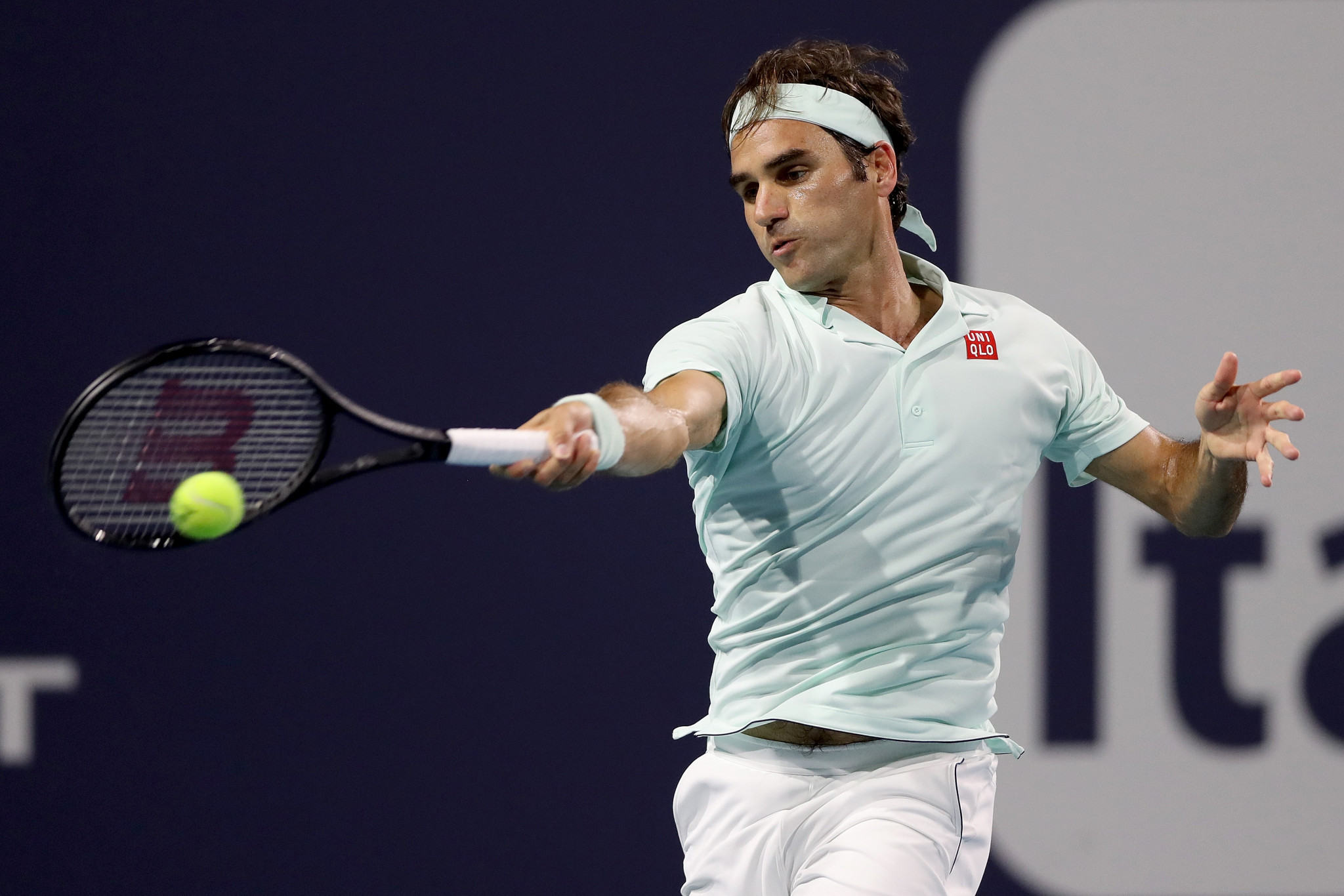 Switzerland's Roger Federer beat Canada's Denis Shapovalov in the semi-final of the Miami Open ©Getty Images