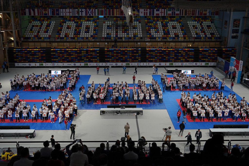 World Karate Federation steps up campaign for Paris 2024 inclusion with t-shirt display at European Championships