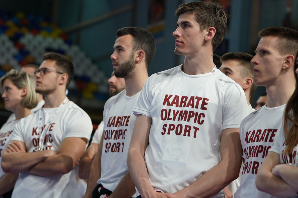 The t-shirts come as part of a wider campaign to get karate in the Paris 2024 Olympic Games ©WKF