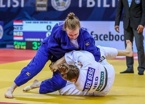 Junior world champion Sanne Vermeer of the Netherlands won the women's -63kg final at the IJF Grand Prix in Tbilisi ©IJF