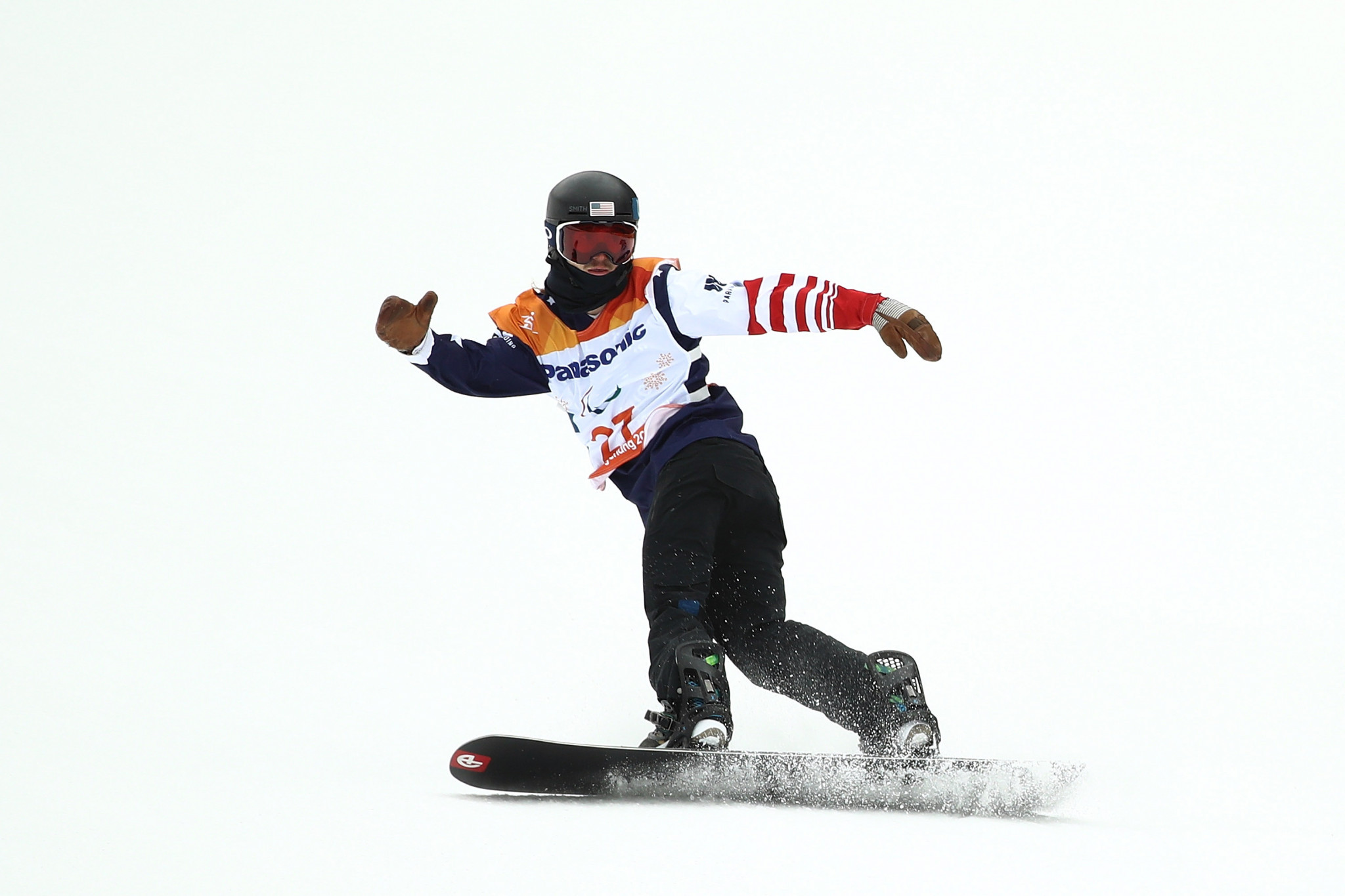 American Noah Elliott took gold in the men's snowboard cross lower limb one impaired final in Pyha ©Getty Images