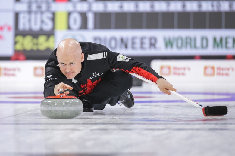 Canada secure two wins on opening day of World Men's Curling Championships