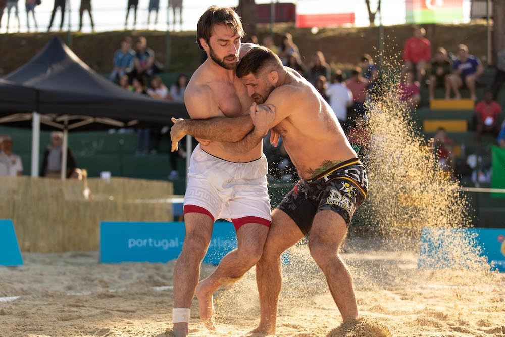 Georgia and Romania dominate as UWW Beach Wrestling World Series event in Portugal concludes