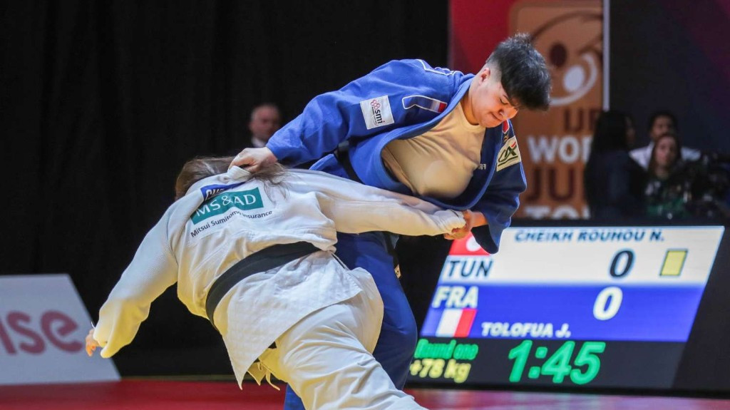 France's Julia Tolofua won gold on the final day of the International Judo Federation Grand Prix in Tbilisi ©IJF