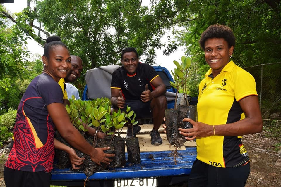 The Papua New Guinea Olympic Committee held a mangrove planting ceremony to celebrate 100 days until the Pacific Games ©PNGOC/Facebook