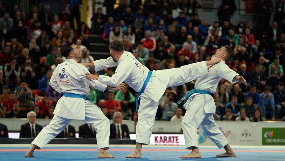 Spain took the title in the men's kata at the European Karate Championships in Guadalajara ©European Karate Federation