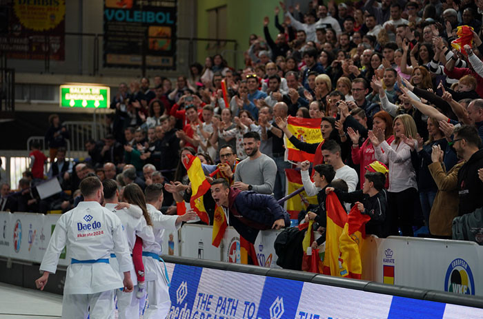 Spain topped the medal table in front of their home crowd at the European Karate Championships ©European Karate Federation