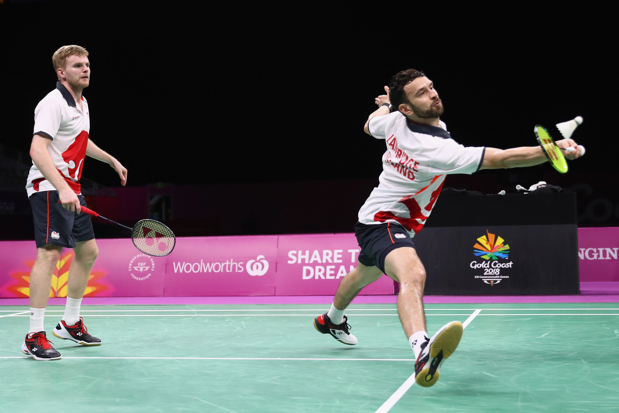 Chris Langridge won a Commonwealth Games silver medal in the men's double with partner Marcus Ellis, left, at Gold Coast 2018 and has high hopes for Birmingham 2022 ©Getty Images
