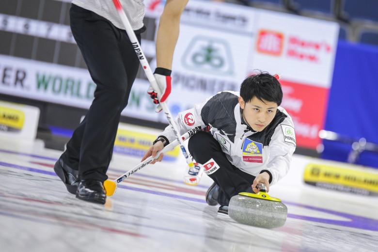 Japan extended to three games their winning run in Lethbridge ©WCF/Jeffrey Au