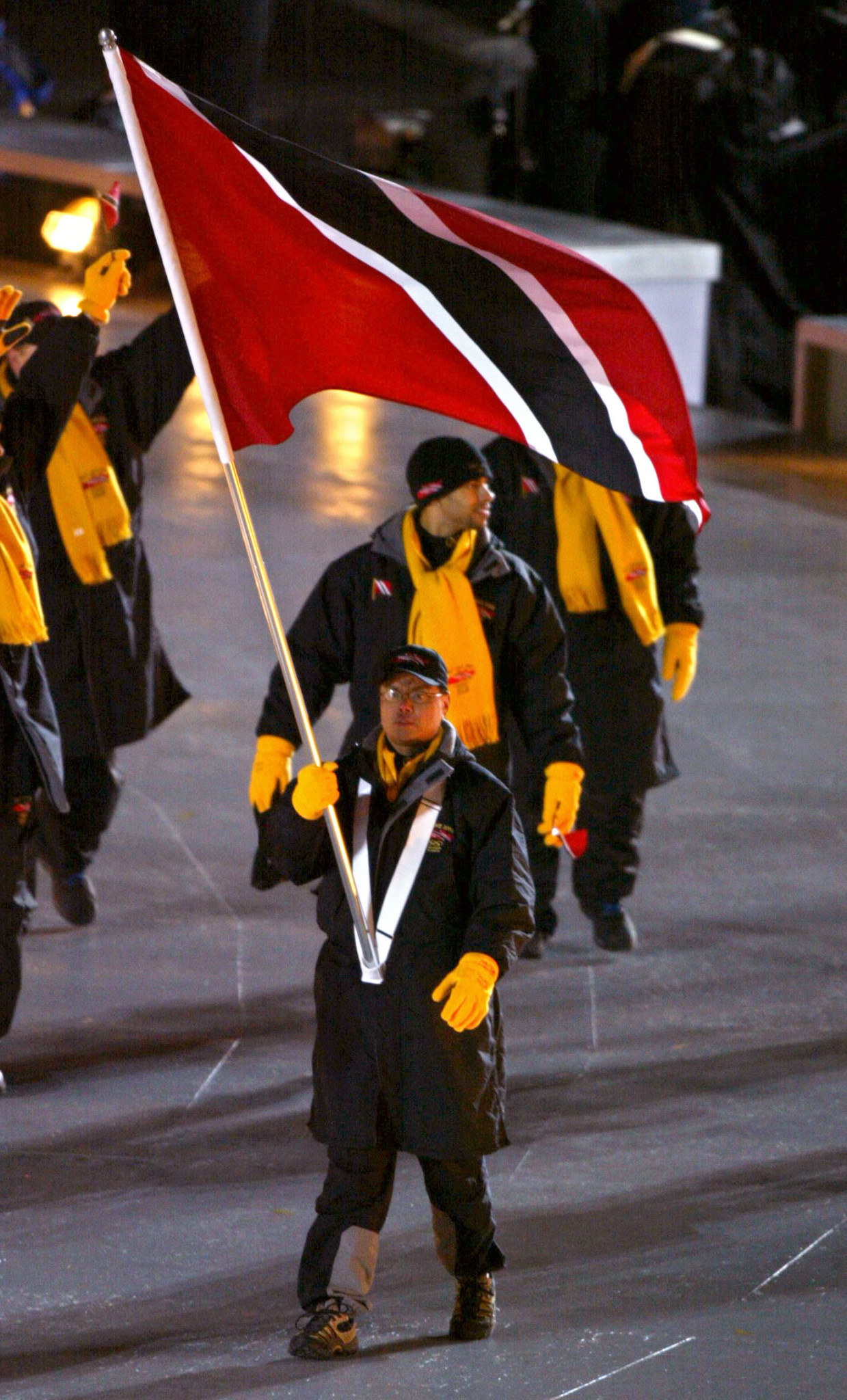 Bobsledder Gregory Sun was Trinidad and Tobago's flag bearer when the country last participated at a Winter Olympic Games, in Salt Lake City in 2002 ©Getty Images