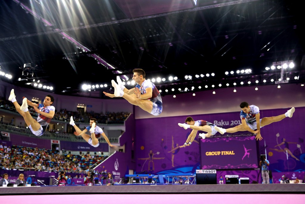 Aerobic gymnastics was showcased at Baku 2015 but is not currently on the Olympic Programme
