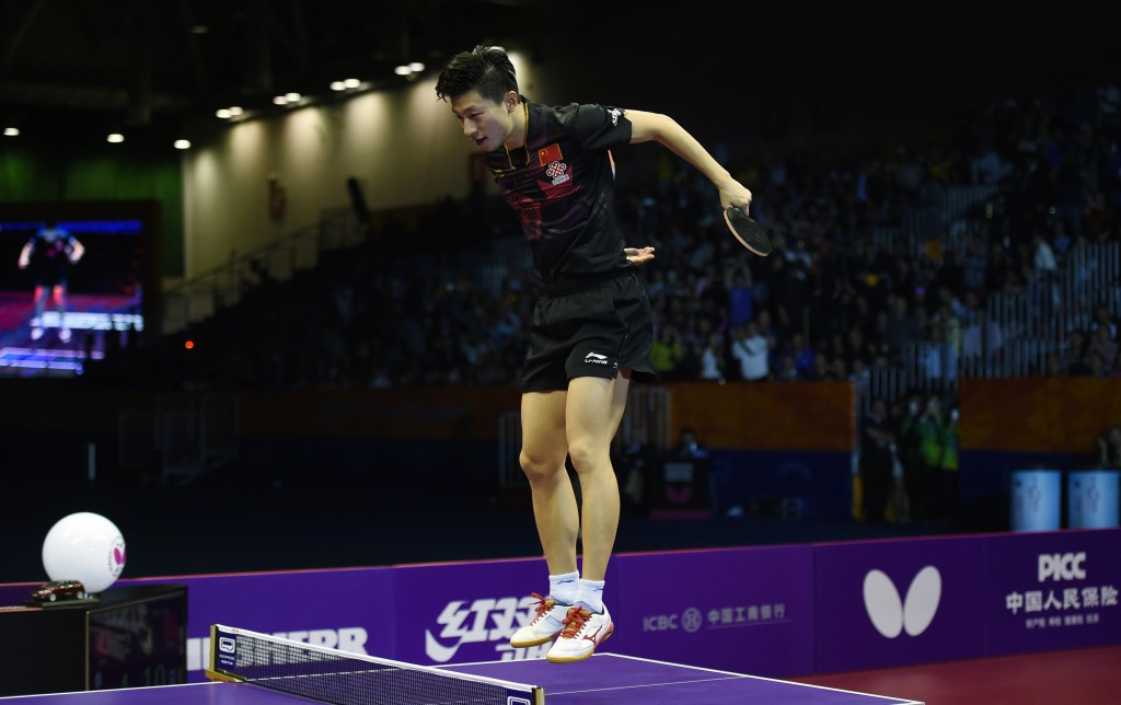 Ma Long celebrates his success in the men's singles competition ©Getty Images
