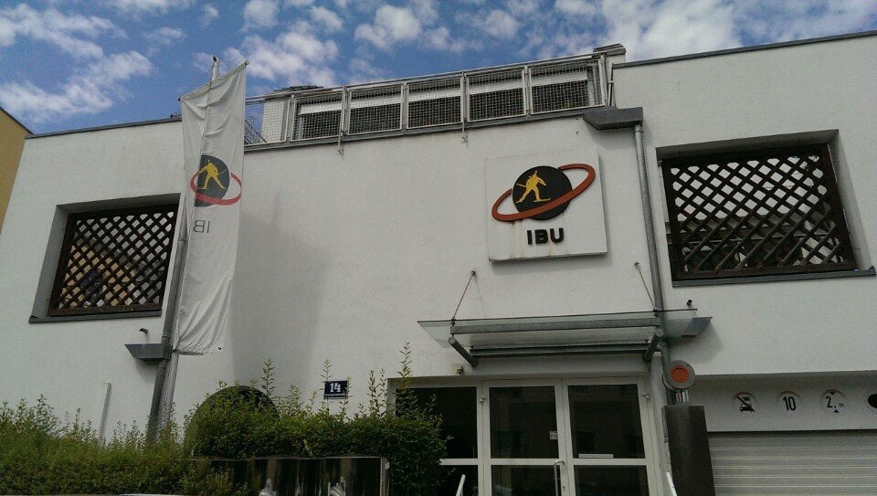 IBU headquarters were raided last year amid allegations of a Russian doping cover-up ©Foursquare