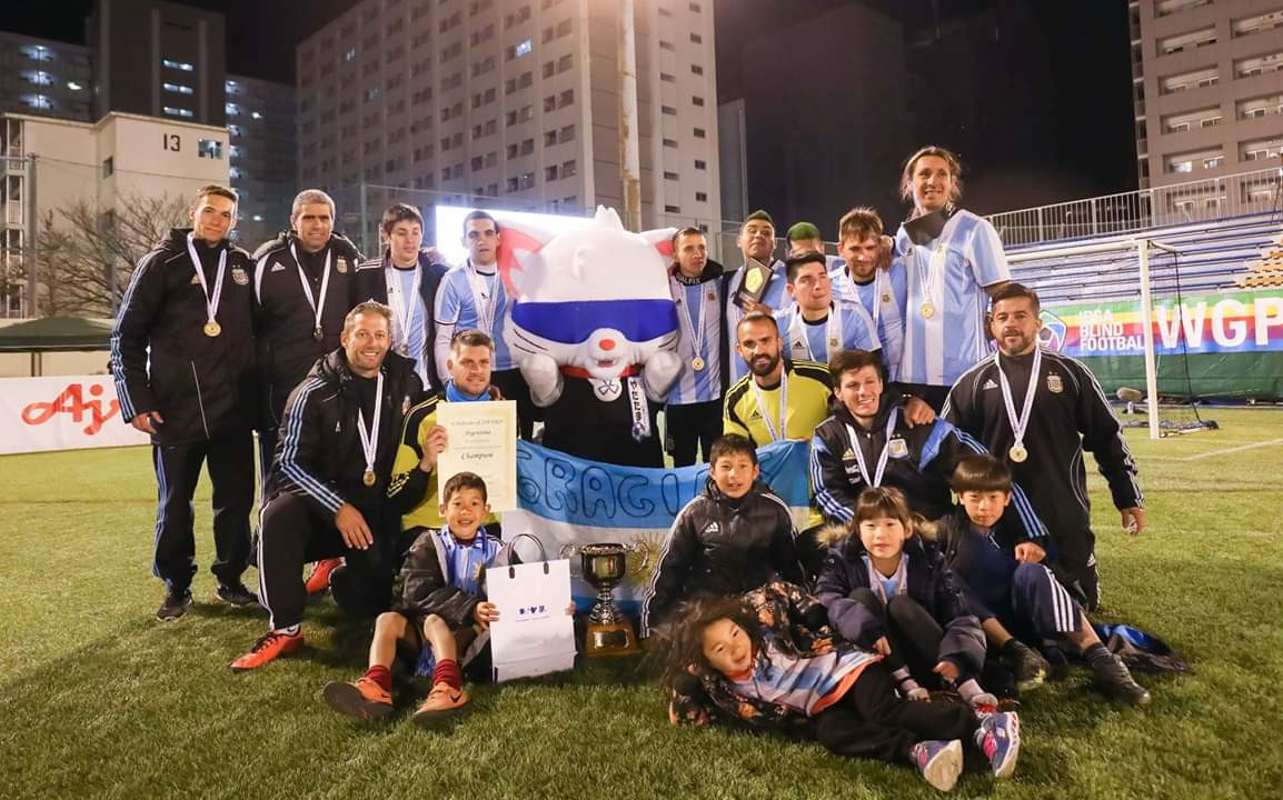 Argentina's blind football team has been nominated for the APC athlete-of-the-month award ©IBSA Blind Football