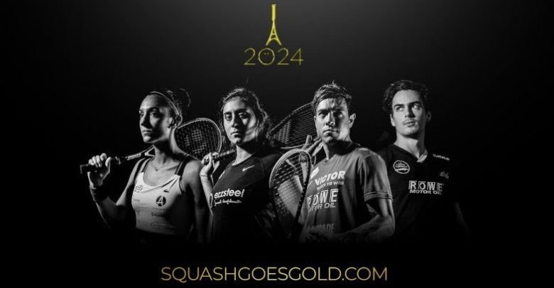 Squash Goes Gold attempted to gain Olympic inclusion for Paris 2024 ©Squash Goes Gold
