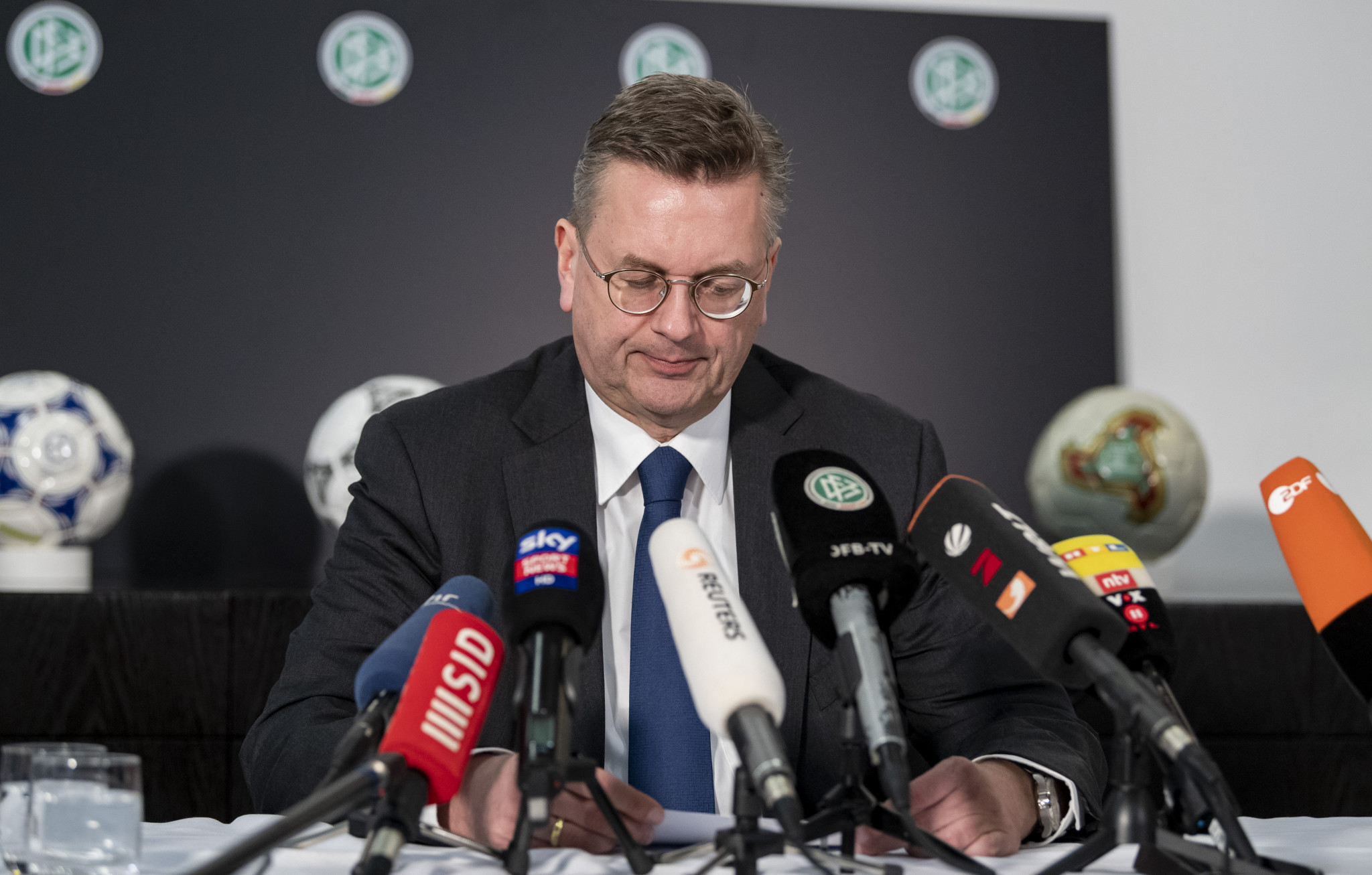 German Football Association President Grindel resigns following allegations of undeclared earnings