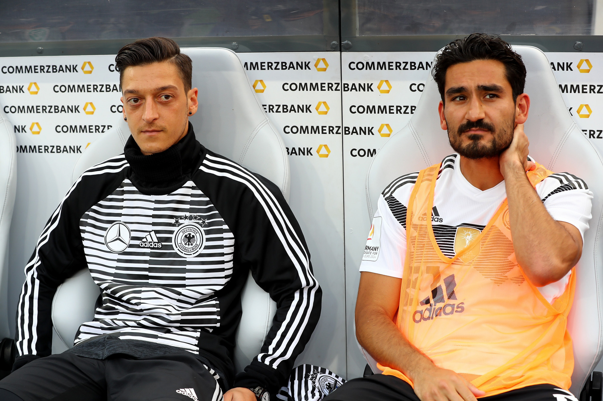 Reinhard Grindel was in charge when controversy emerged surrounding Germany's Mesut Özil and İlkay Gündoğan during the 2018 FIFA World Cup ©Getty Images