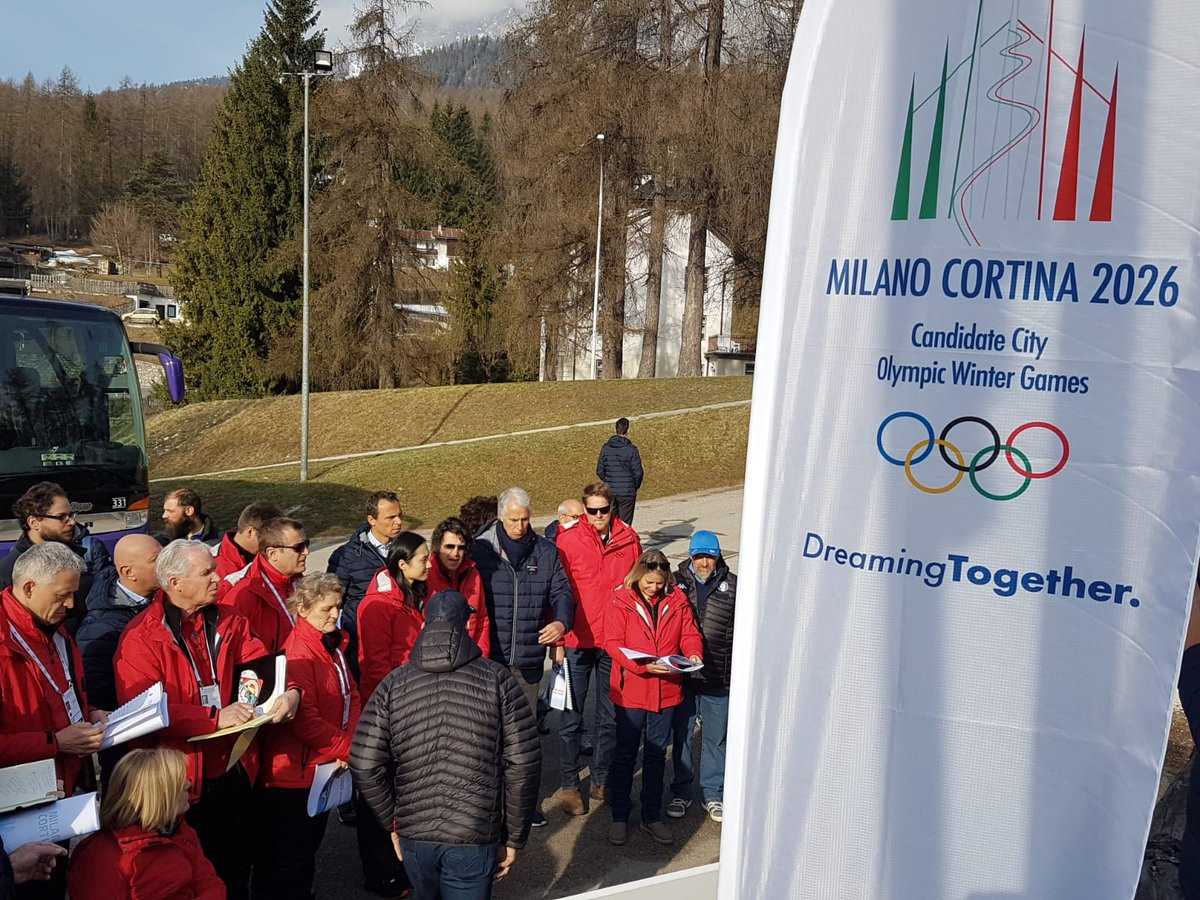 IOC Evaluation Commission begin visit to Italy to inspect Milan Cortina 2026
