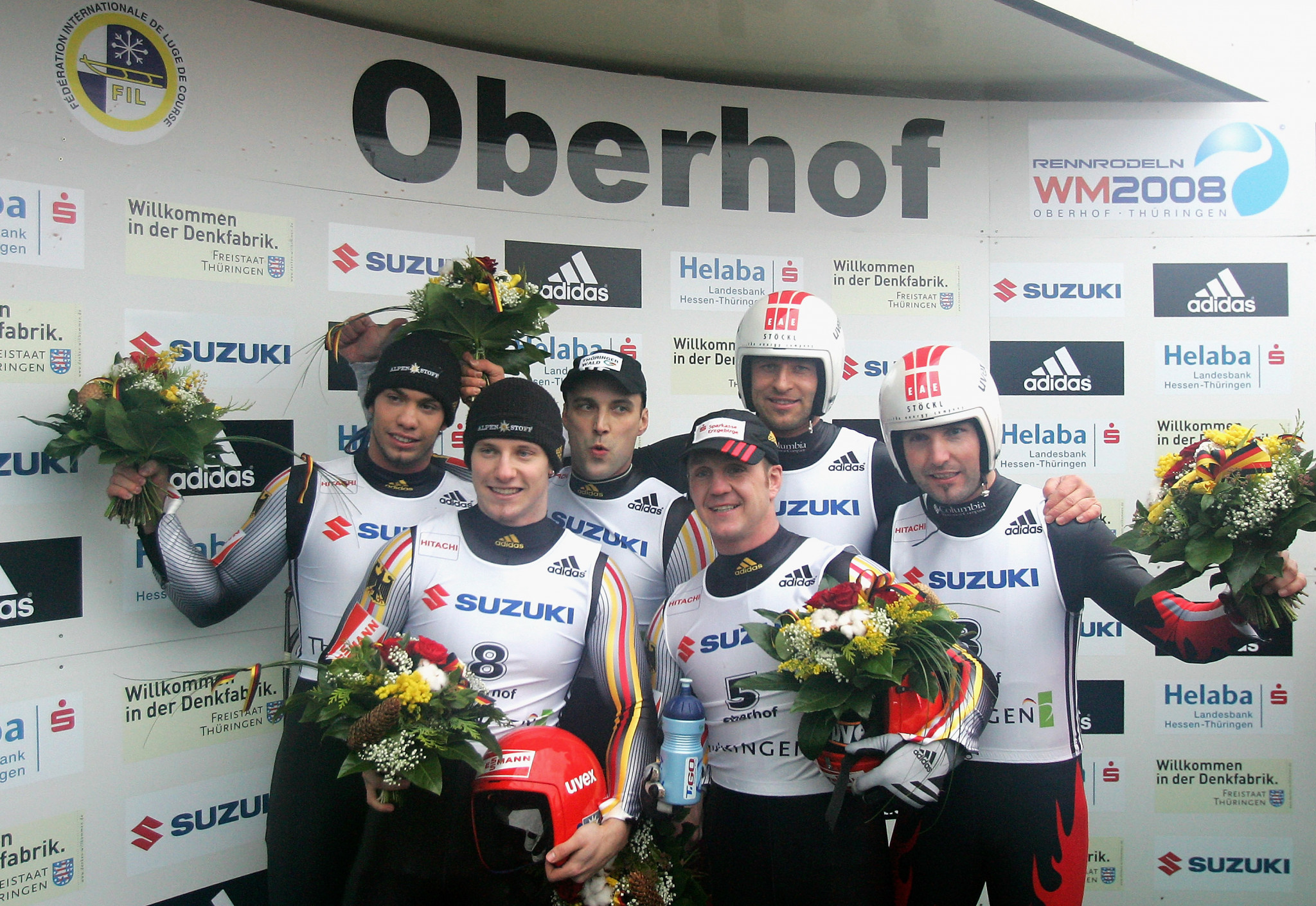 The last time Oberhof hosted the FIL World Championships in 2008 there was almost total domination from Germany, who won nine of the 12 medals, including all four gold ©Getty Images