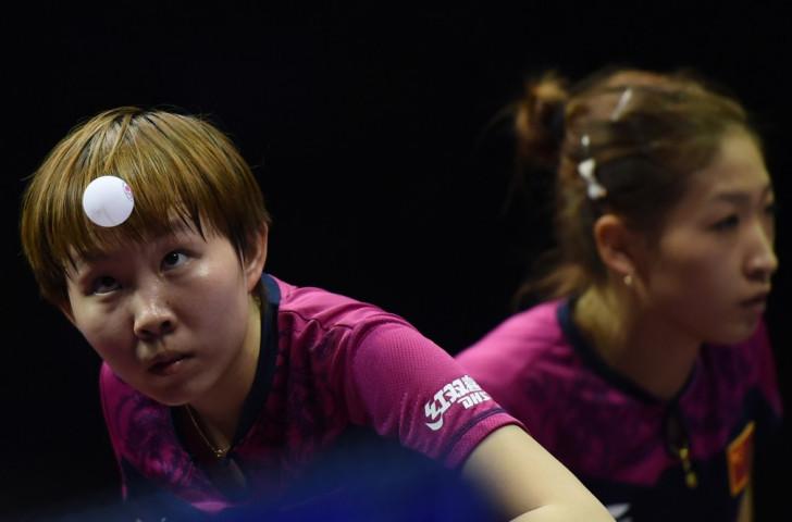 Zhu Yuling and Liu Shiwen took the women's doubles crown