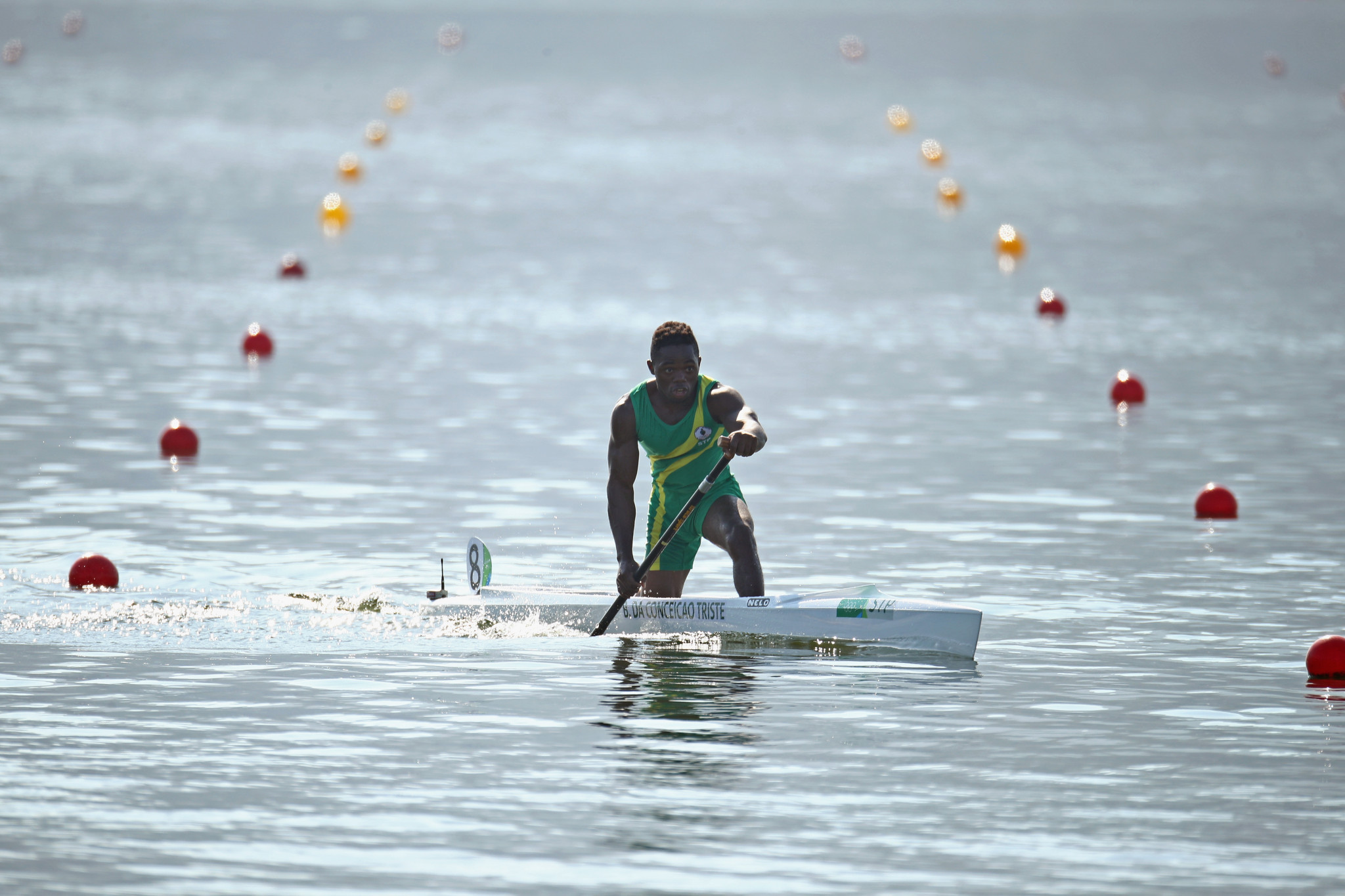 Buly Triste represented São Tomé and Príncipe at the Rio 2016 in canoe sprint ©Getty Images