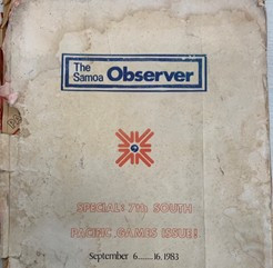 The Samoa Observer previously supported the Pacific Games on the island in 1983 ©Samoa 2019