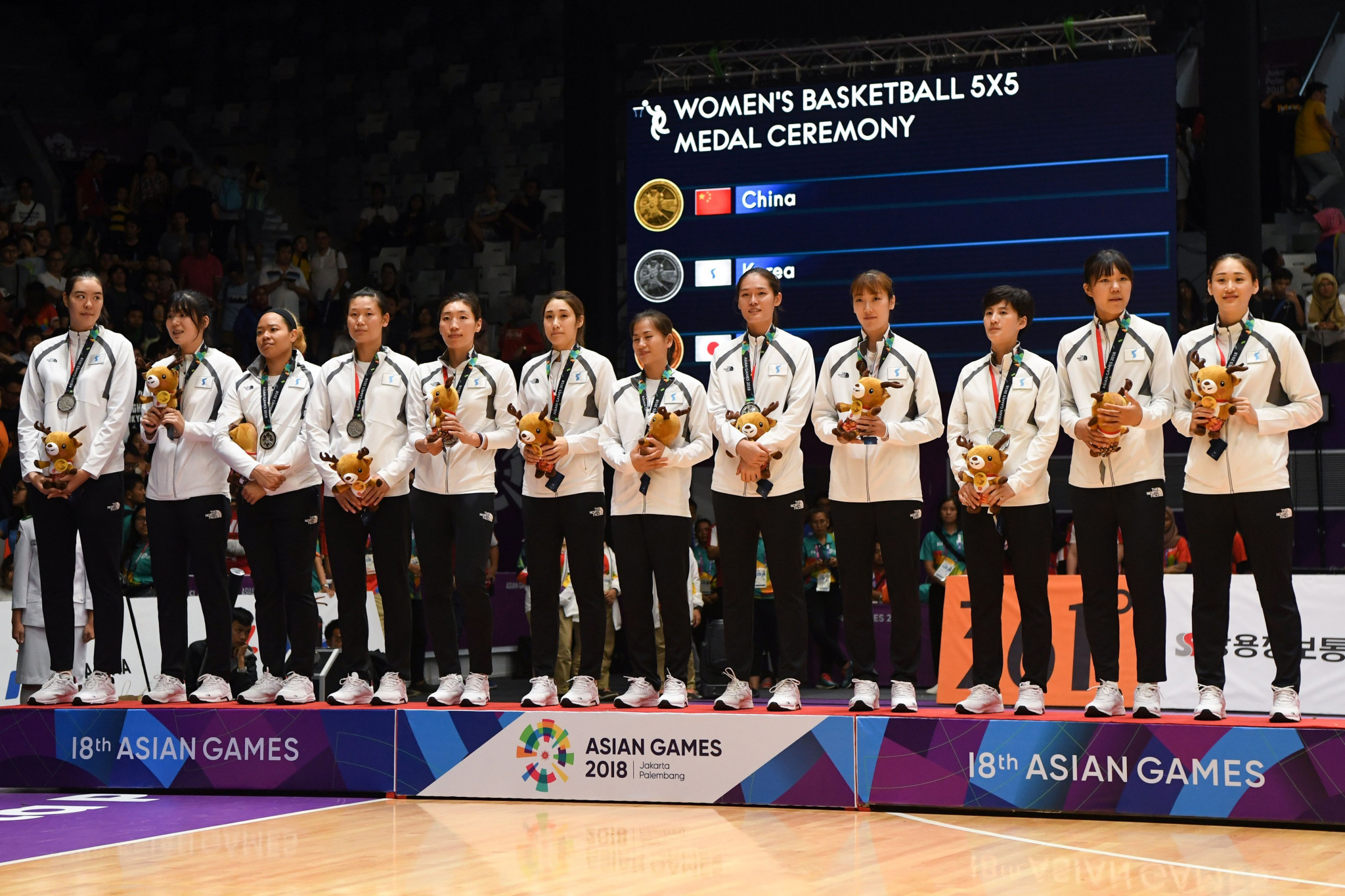 The joint Korean team won silver in the women's basketball event at the 2018 Asian Games ©Getty Images