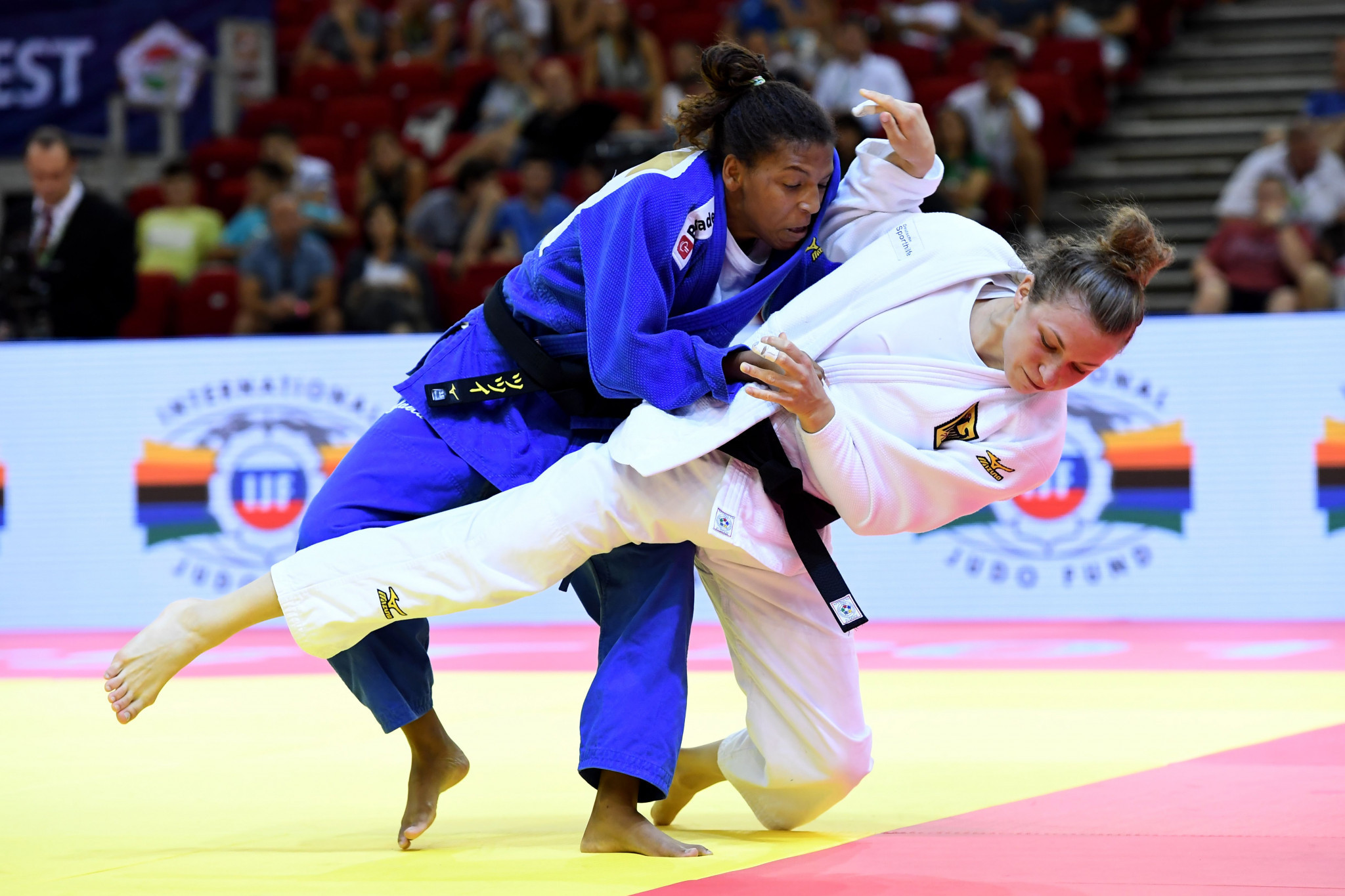 Brazil's Rafaela Silva, left, is one of three Olympic champions competing at he IJF Grand Prix that starts in Turkey tomorrow ©Getty Images