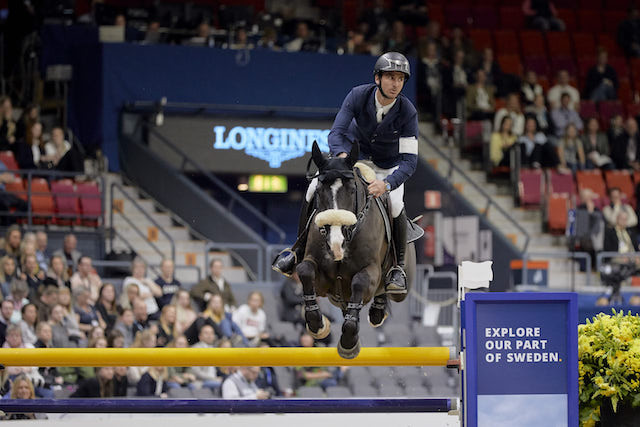 Switzerland's Guerdat seizes early advantage at FEI Jumping World Cup final in Gothenburg