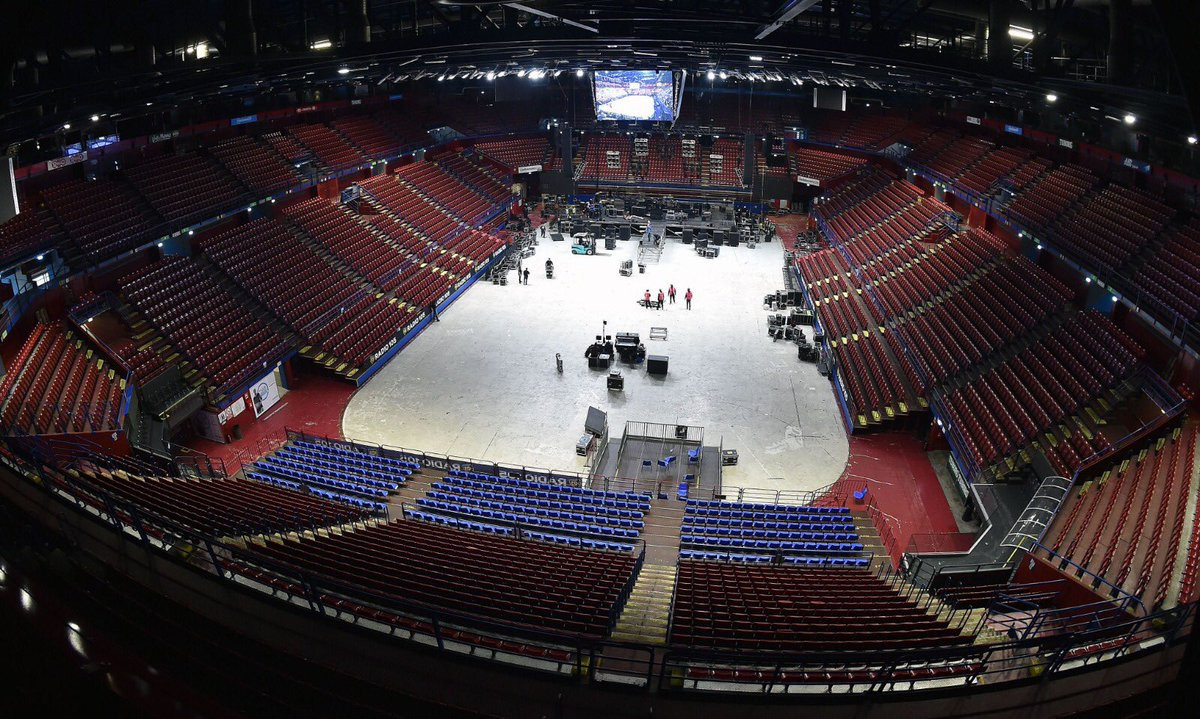 After San Siro, the IOC Evaluation Commission visited the proposed venue for the ice hockey ©CONI