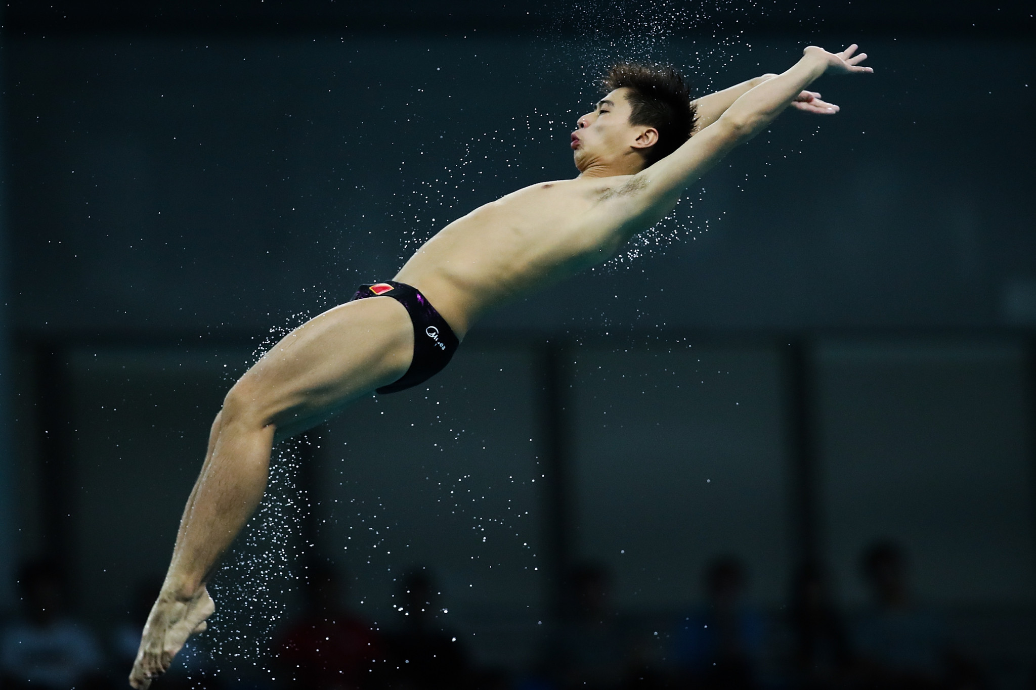 Huang Bowen achieved the highest score in men's platform qualifying ©Getty Images