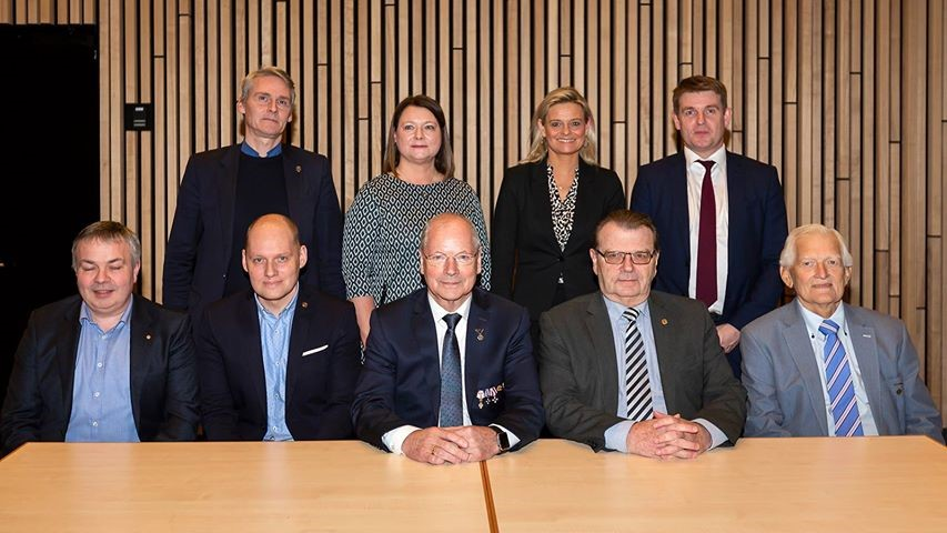 Former FCSOC Presidents joined politicians at the celebration ©Faroe Photo