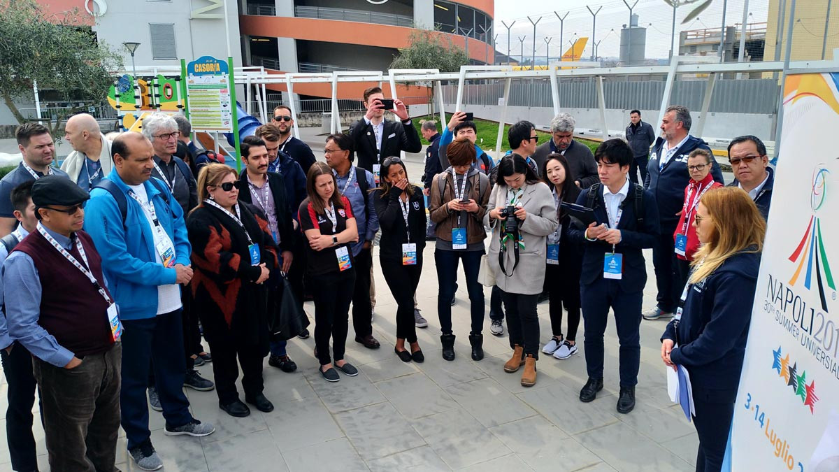 Representatives from around 50 countries have visited Napoli to assess preparations for the Naples 2019 Universiade ©FISU
