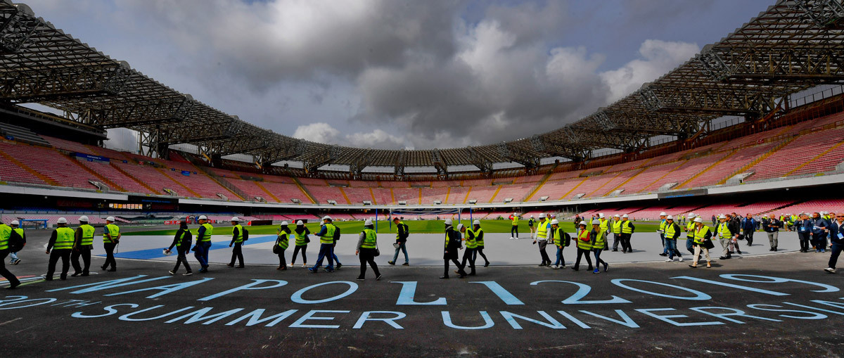 Renovation work is ongoing at many venues including the San Paolo stadium ©FISU