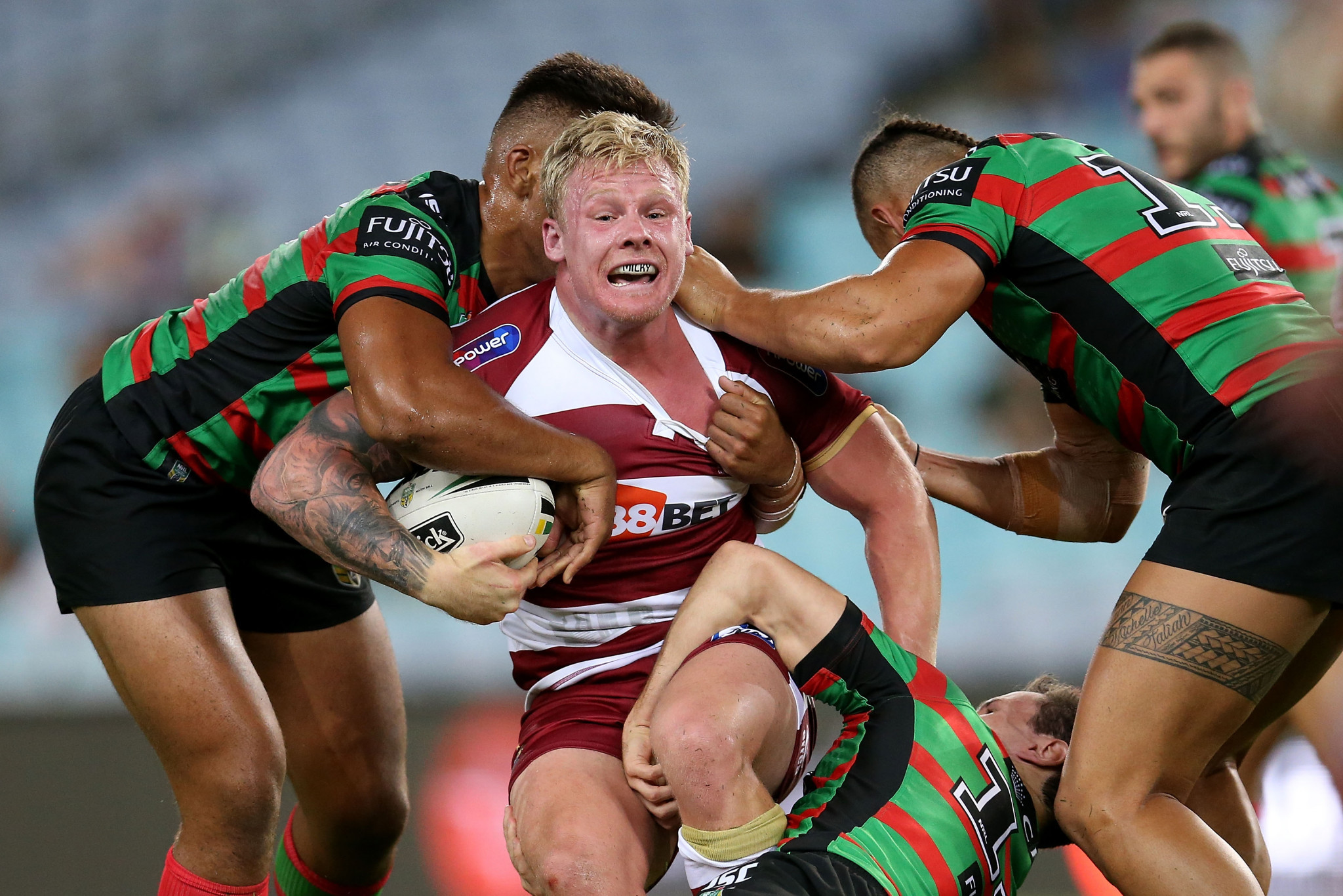 Australian Gabe Hamlin has been provisionally suspended by the Rugby Football League after being charged with a UK Anti-Doping violation ©Getty Images